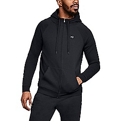 Under Armour - Black 'UA Rival Fleece' full zip hoodie
