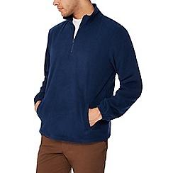 Jacamo - Navy zip neck sweatshirt