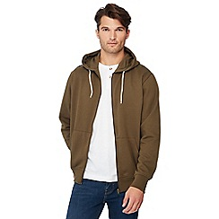 Jacamo - Khaki zip through hoodie