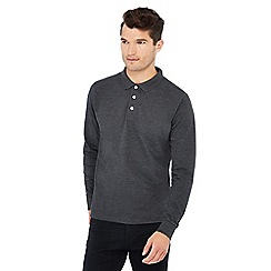 Jacamo - Grey pique polo shirt