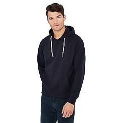 Jacamo - Navy front pocket cotton blend hoodie