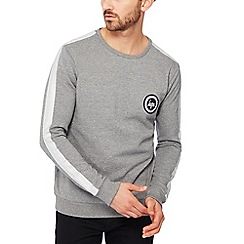 Hype - Grey sleeve stripe sweatshirt