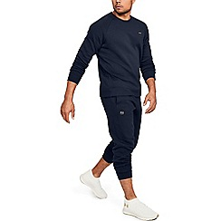 Under Armour - Dark blue cotton blend 'UA Rival' fleece joggers