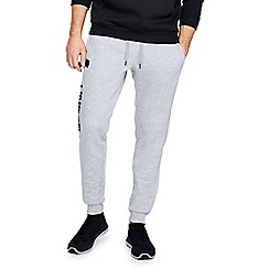 Under Armour - Grey 'UA Rival Fleece' script joggers