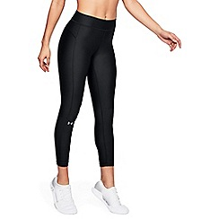 Under Armour - Black 'UA HeatGear® Armour' ankle crop leggings