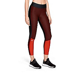 Under Armour - Red 'UA HeatGear® Armour' jacquard ankle crop leggings
