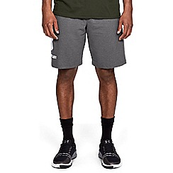 Under Armour - Grey 'UA Sport style' cotton graphic shorts