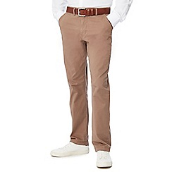 Jacamo - Light brown regular length chino trousers