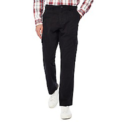 Jacamo - Black Utility Long Cargo Trousers