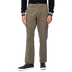 Jacamo - Khaki Utility Long Length Cargo Trousers