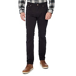 Jacamo - Black gabardine slim fit jeans