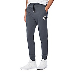 Hype - Dark grey logo applique jogging bottoms