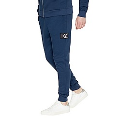 Hype - Navy logo applique jogging bottoms