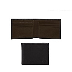 Fred Perry - Black leather billfold wallet