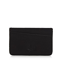 Fred Perry - Black leather card holder