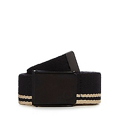 Fred Perry - Black fabric belt