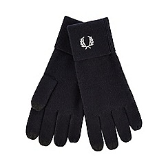 Fred Perry - Navy wool touchscreen gloves