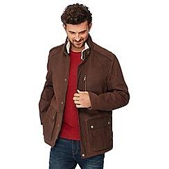 Barneys - Brown leather car coat