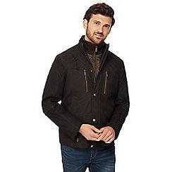 Barneys - Big and tall dark brown leather jacket