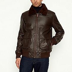 Barneys & Taylor - Dark Brown Leather Flight Jacket