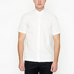 Fred Perry - White twill short sleeve regular fit shirt
