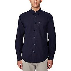 Ben Sherman - Navy cotton long sleeve regular fit Oxford shirt