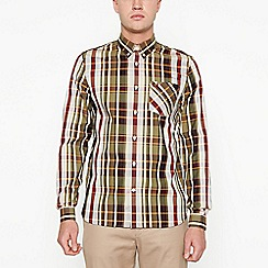 Fred Perry - Khaki bold check long sleeve regular fit shirt