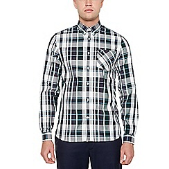 Fred Perry - Navy Bold Check Long Sleeve Regular Fit Shirt