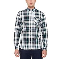 34bad195e8 Fred Perry Khaki Bold Check Long Sleeve Regular Fit Shirt