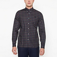 Fred Perry - Multicoloured checked long sleeve regular fit shirt