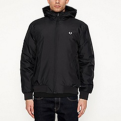 Fred Perry - Black hooded 'Brentham' jacket