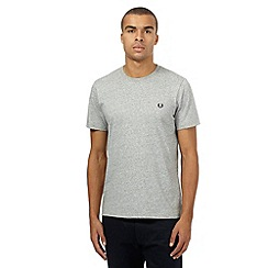 Fred Perry - Grey embroidered logo t-shirt