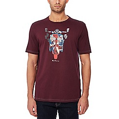 Ben Sherman - Maroon scooter print cotton t-shirt