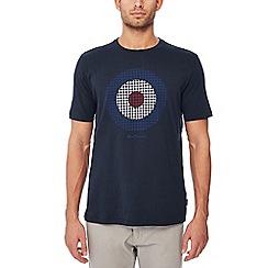 Ben Sherman - Navy target print cotton t-shirt