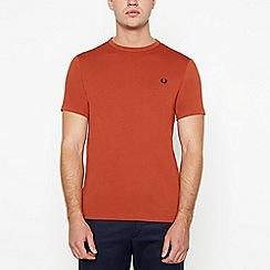 Fred Perry - Dark orange cotton t-shirt