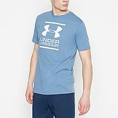 Under Armour - Blue Logo Print T-Shirt