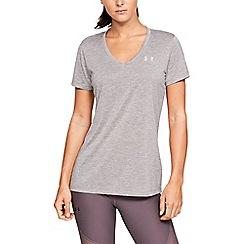 Under Armour - Grey 'Tech ' Twist V-Neck Short Sleeve T-Shirt