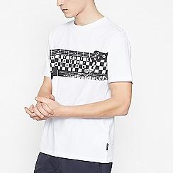 Ben Sherman - White Guitar Print Cotton T-Shirt