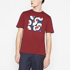 Ben Sherman - Maroon Target Print Cotton T-shirt