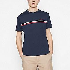 Ben Sherman - Big and tall navy logo print cotton t-shirt