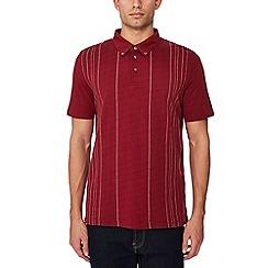 Ben Sherman - Maroon vertical stripe polo shirt