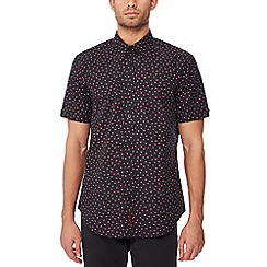 Ben Sherman - Black shadow spot print cotton short sleeve regular fit shirt