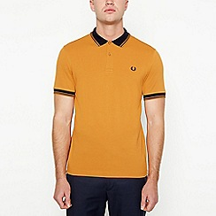 Fred Perry - Orange tipped cotton polo shirt