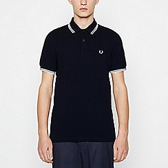 Fred Perry - Big and tall black tipped cotton polo shirt