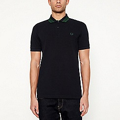 Fred Perry - Navy tipped collar cotton polo shirt