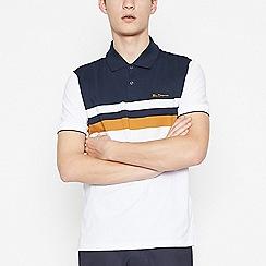 Ben Sherman - White Striped Polo Shirt
