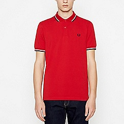 Fred Perry - Red Tipped Cotton Polo Shirt