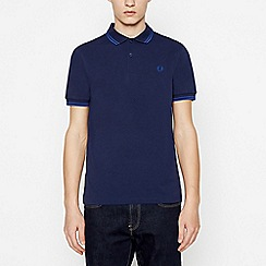 Fred Perry - Blue Tipped Cotton Polo Shirt