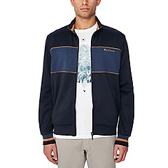 Ben Sherman - Big and tall navy striped trim track jacket