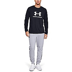 Under Armour - Black Charged Cotton® 'Sportstyle' Long Sleeve Logo T-Shirt